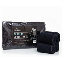 Barber Pro Shave Towel Black (4 pack)
