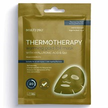 BeautyPro Thermotherapy Warming Gold Foil Mask with Hyaluronic Acid & Q10