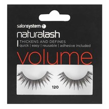 Salon System Naturalash Strip Lashes - 120 Black (Volume)