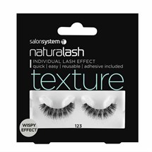 Salon System Naturalash Strip Lashes - 123 Black (Texture)