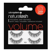Salon System Naturalash Strip Lashes (Extra Value Twin Pack) - 101 Black
