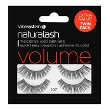 Salon System Naturalash Strip Lashes (Value Twin Pack) - 107 Black (Volume)