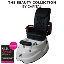 Capital Belgravia Massage Pedi Spa Chair - Black on White Base