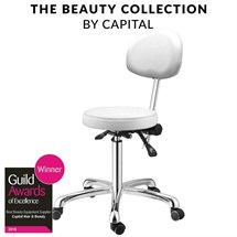 Capital Pro Therapist Stool - White
