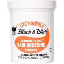 Black & White Pluko Hairdressing Pomade 198g - Lite