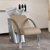 Salon Ambience Dreamwash Washpoint - Chrome Armrests, White Basin
