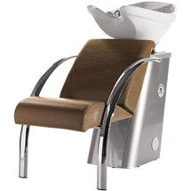 Salon Ambience Dreamwash Washpoint - Chrome Armrests, White Basin - Black Alligator 49