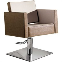 Salon Ambience Square Hydraulic Chair [non-lockable, hydraulic pump] + Square Base