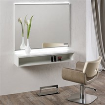Salon Ambience Horizon Styling Unit with LED Lights