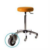 Salon Ambience Harley Stool - Chrome Base Pro Wheels