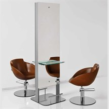 Luca Rossini Motivo Island Styling Unit + Glass Shelf and Footrest