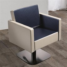Salon Ambience Square Hydraulic Chair - Non Locking Pump + Five Star Base