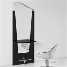 Luca Rossini Venice Black Work Unit Black Shelf + Footrest