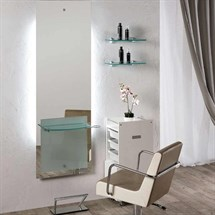 Salon Ambience Lisboa Glass Styling Unit