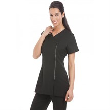 Gear Miami Contrast Tunic Diamante Zip Black - Size 14