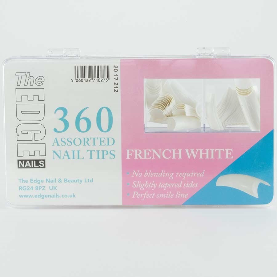 The Edge French White Tips Assorted - 360 Assorted   Nail Extensions ...
