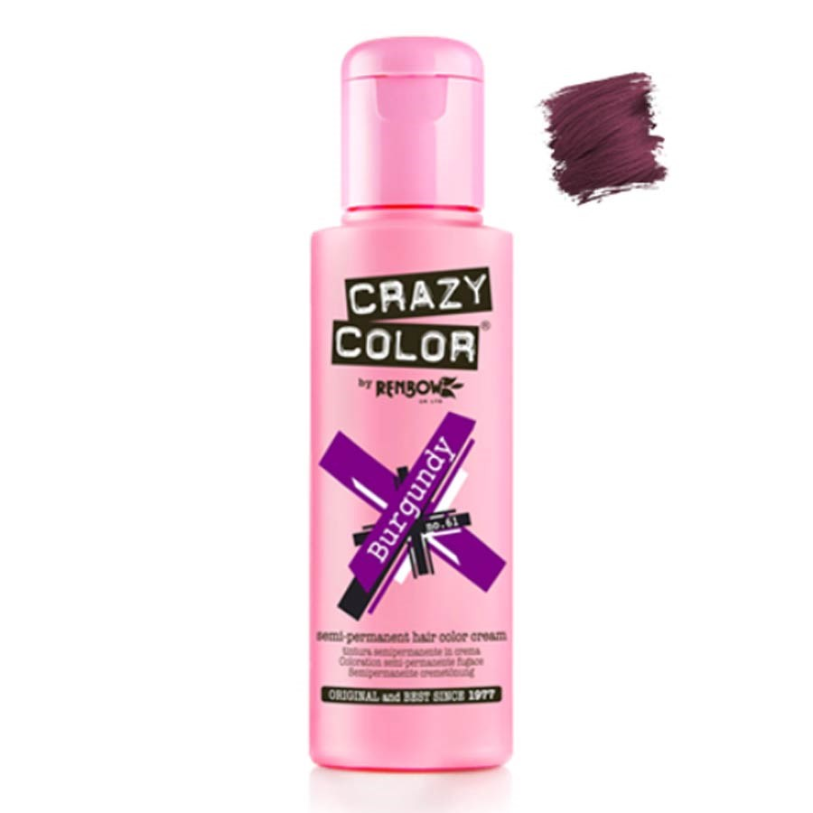 Crazy Color Hair Colour Creme 100ml Burgundy Semi