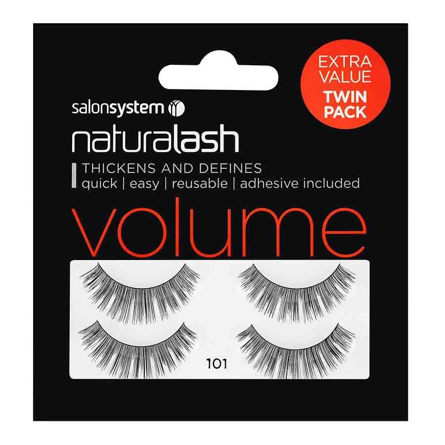 106cbd99342 Salon System Naturalash Strip Lashes (Extra Value Twin Pack) - 101 Black